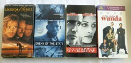 4 VHS Tapes,Conspiracy Theory,Enemy of State,Legends of the Fall,Fish ca... - $11.26