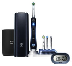 New Brown D345456X Oral-B electric toothbrush Platinum Black 7000 6 mode type - $202.32