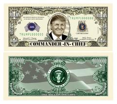 Pack of 25 - Donald Trump Presidential Novelty Dollar Bills Commander In... - $8.90