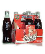 1994 Commemorative Christmas COKE Coca Cola Bottles - Full 6 Pack - $8.50