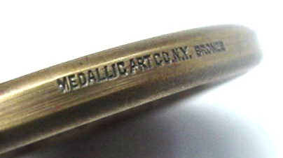 Old Salvation Army Bronze Coin Medallion Medallic Art Co.