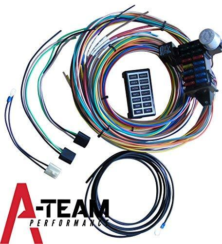 street performance wiring harness a-team performance 14 circuit basic wire kit small wiring ... street performance ls3 wiring harness