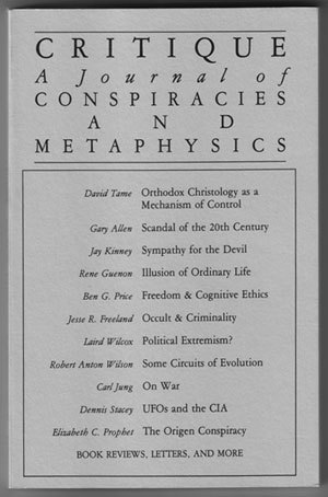Primary image for Critique: A Journal of Conspiracies and Metaphysics #23/24 (Fall/Winter 1986/87)