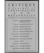 Critique: A Journal of Conspiracies and Metaphysics #23/24 (Fall/Winter ... - $15.00
