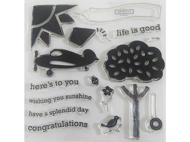Close to My Heart Splendid Day Clear Acrylic Stamp Set #D1462