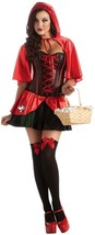Red Riding Hood Fairy Tale Secret Wishes Fancy Dress Halloween Adult Costume - $75.53