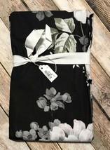 Pottery Barn Lydia Euro Pillow Sham Black Gray Rose Floral Gorgeous HTF NEW - $39.11