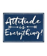 Open Road Brands Attitude is Everything Embossed Metal Sign - $18.73
