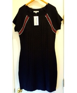Navy Blue Cable Knit Short Sweater Dress XL - $15.00