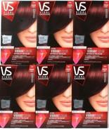6 Vidal Sassoon VS Ultra Vibrant Hair Color 3RV London Luxe Magnetic Mah... - $46.99