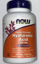 Now Foods Hyaluronic Acid Double Strength 100 mg Joint Support - 120 Cap... - $22.99
