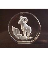 Vintage  Wildlife Crystal Ram (Aries) Figurine The Danbury Mint, West Ge... - $5.50