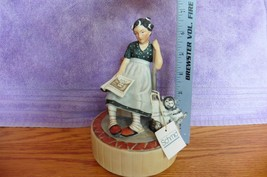 "SCHMID ""Daydreams"" 1977 LIMITED EDITION Ceramic MUSIC BOX 356 tired Hous... - $34.75"