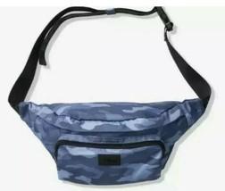 PINK Victoria's Secret Blue Camo Camouflage Oversized Belt Bag Fanny Pack NEW - $23.66