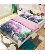 3D Blue-Haired Girl P04 Japan Anime Bed Pillowcases Quilt Duvet Cover Acmy - $54.57+