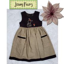 Jessy Franz ~ Gorgeous Premium Girls Brown Corduroy Dress ~ Size 5 - $23.23