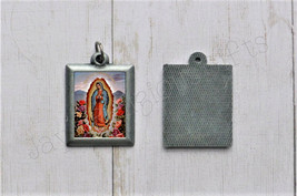 Our Lady of Guadalupe PEWTER Necklace Pendant - Religious Saint Silver 1... - $7.95