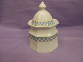 Studio Nova Country Cafe Blue Y0055 Hexagon Shaped Creamer Made in Thailand - $13.84