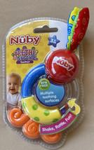 Nuby Teethe & Shake Teether Multiple Surfaces Rattle 3+ Months BPA Free 2013 - $11.99