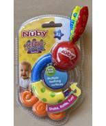 Nuby Teethe & Shake Teether Multiple Surfaces Rattle 3+ Months BPA Free ... - $11.99