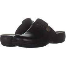 Clarks Leisa Carly Clog Backless Slip On Flats 185, Black, 7.5 US - $19.19
