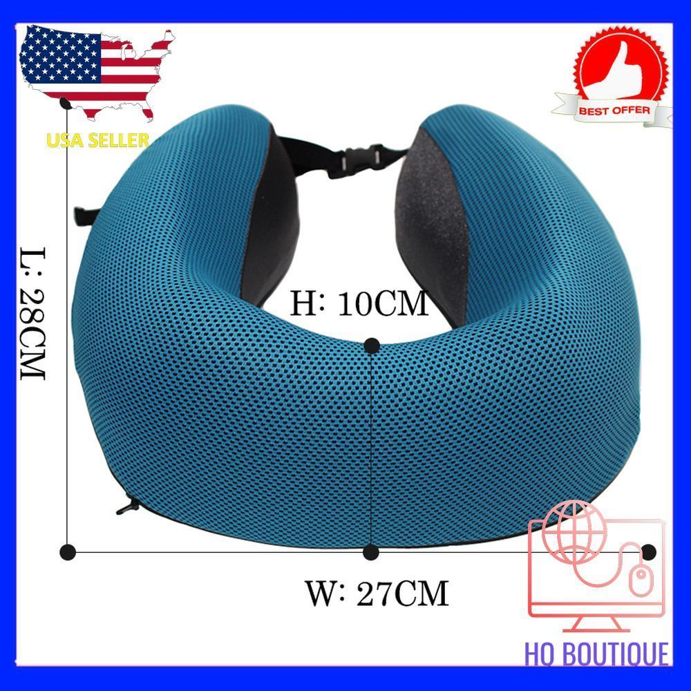 Hot Soft U Shaped support Neck memory foam pillow for travel made 100% Polyester