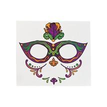 Mardi Gras Full Face Tattoo (12 Pack) Eye Mask Temporary Tattoos - $16.15 CAD