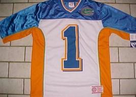 Florida Gators 1 NCAA SEC Sportonics White Orange Blue Boys Jersey XL New - $29.69