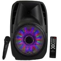 "15"" 5000w Bluetooth Tailgate Pa Dj Party Speaker Lights Remote Mic Black - $189.10 CAD"
