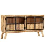 vidaXL Solid Rough Mango Wood Sideboard Brown and Black Cabinet Drawer Unit - $394.99