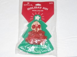"HALLMARK Holiday Pin ""Pin on a Little Fun"" Barbie Christmas Holiday - $11.87"