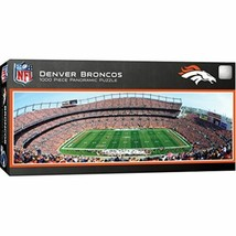 MasterPieces NFL Denver Broncos Stadium Panoramic Jigsaw Puzzle, 1000 Pi... - $15.96