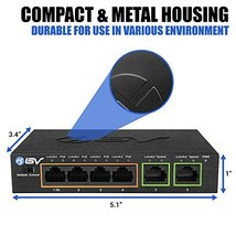 BV-Tech 4 Port PoE+ Switch with 2 Ethernet Uplink and Extend Function – 60W – 80 image 3