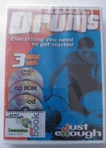 LEARN TO PLAY Drums 3 DISC DVD. Cd cd Rom SET N... - $11.28