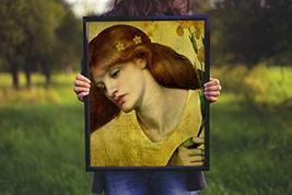 "Sancta Lilias - Dante Gabriel Rossetti- Art Print - 13"" x 19"" - Custom Sizes Ava - $25.00"