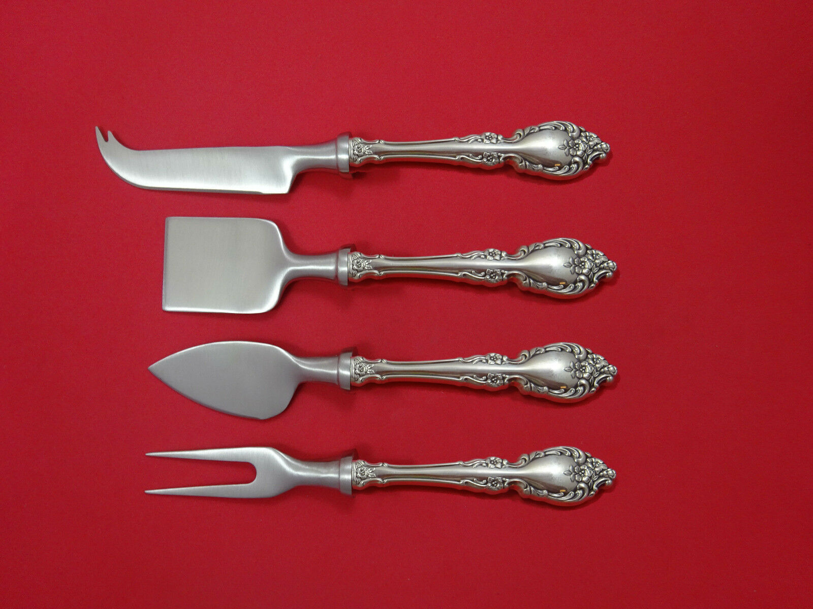 Primary image for Botticelli by Oneida Sterling Silver Cheese Serving Set 4 Piece HHWS  Custom