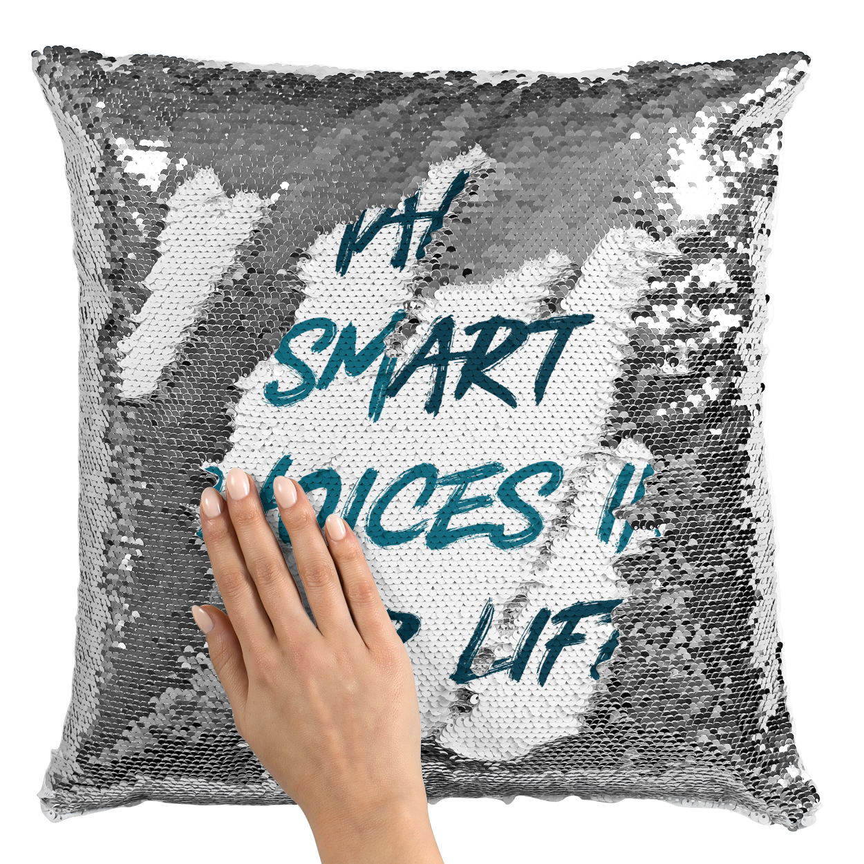 Sequin Pillow With Stuffing Make Smart Choices In Life ...