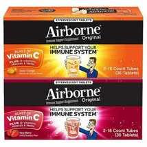 Airborne Zesty Orange Very Berry 1000mg Vitamin C+ Immune Support 36 Efferv Tabs - $15.99