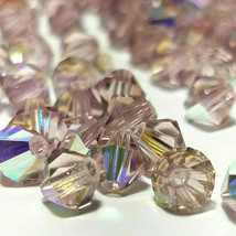 25pcs 4mm SWAROVSKI CRYSTAL FACETED BICONE BEADS - You Choose the Color image 2