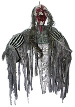 Zombie Prop Skeleton Bloody Creepy Hanging Halloween Haunted House SS85645 - £43.11 GBP