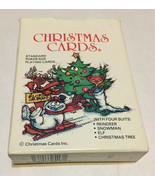 Vtg. 1986 Christmas Cards Inc Standard Size Poker Playing Cards Deck Is ... - $7.43