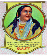 Native American! Kirk Sweet Potatoes Can Label, 1920's  - $2.89