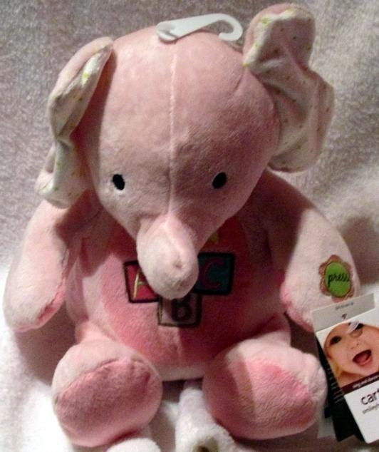 Carter's Smiley Happy Friends Sing & Dance Elephant Pink Baby ABC Song NEW