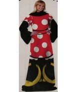 Disney Designer Series Minnie Mouse Comfy Throw Blanket with Sleeves NEW - $35.00