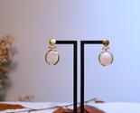 Pearl Earrings, Gold Pearl Drops Earrings, Freshwater Pearl Earrings - €29,50 EUR