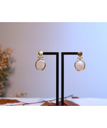 Pearl Earrings, Gold Pearl Drops Earrings, Freshwater Pearl Earrings - $69.00