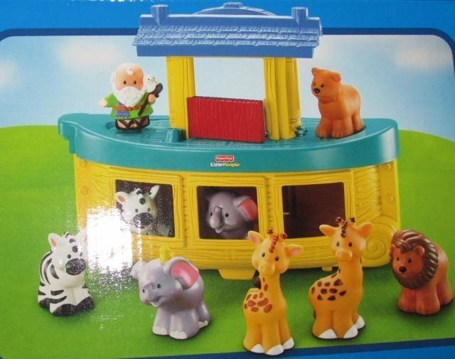 Fisher Price Little People Noah's Ark Noah Elephants Lions Zebras Giraffes NEW