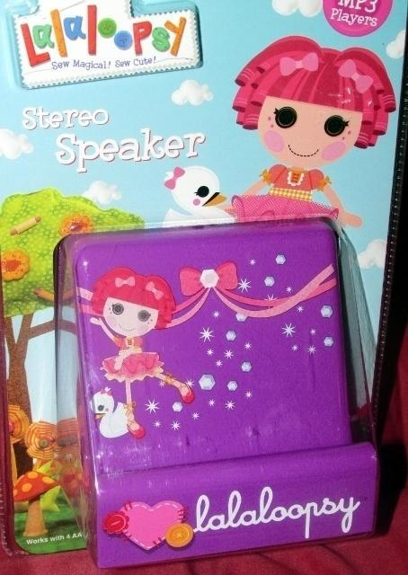Lalaloopsy Stereo Speaker for all MP3 Players Purple Tippy Tumblelina + Swan