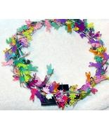 Lighted Easter Bunny Wreath Pastel Colors 10 Inches Decorative Spring NEW - $20.00