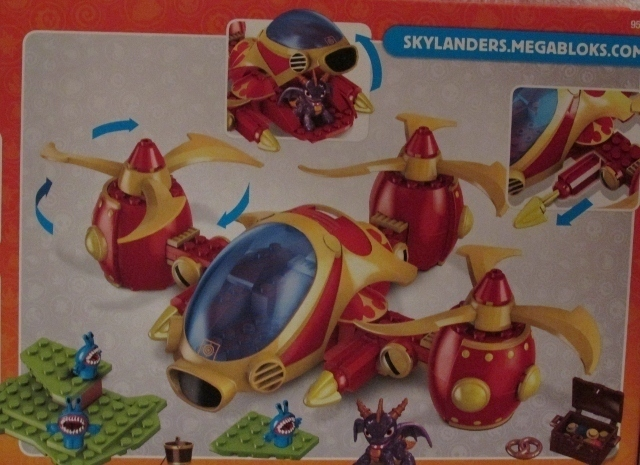 Mega Bloks Skylanders Giants Arkeyan Copter Attack 138 Pieces #95148 NEW